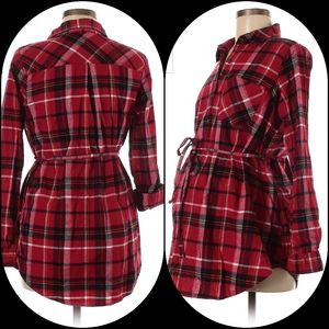 Isabel Maternity flannel shirt